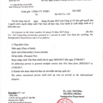 Công văn nhập cảnh lấy visa thương mại cho người nước ngoài