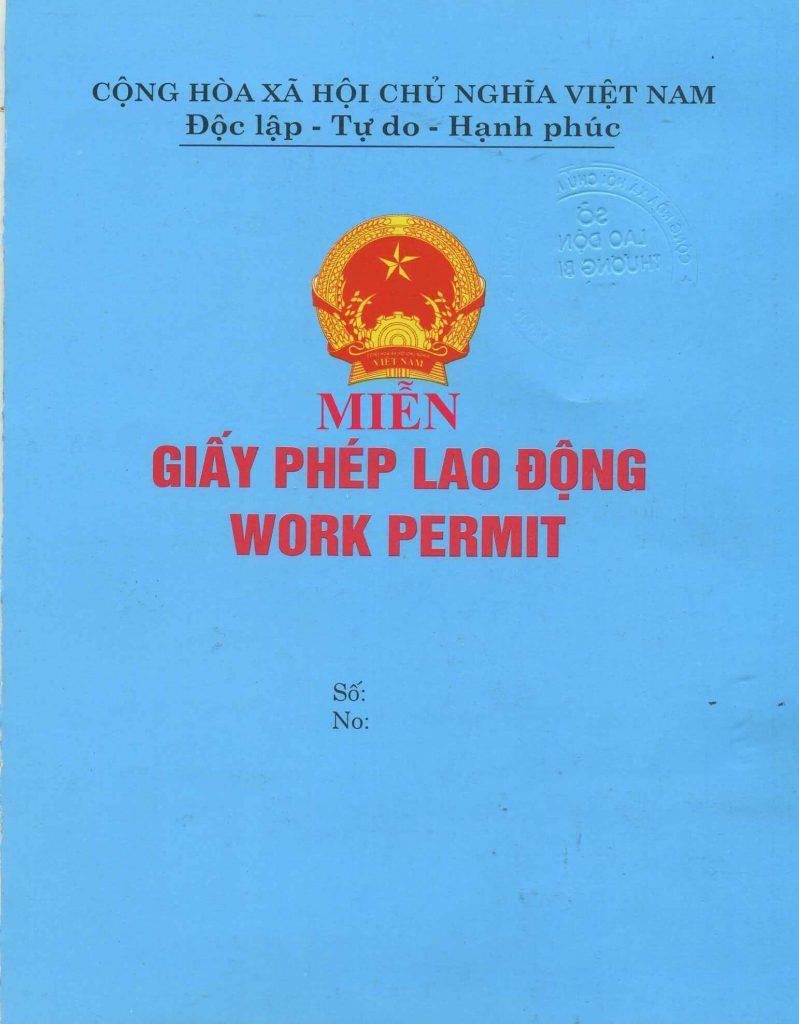 xin xác nhận không thuộc diện cấp giấy phép lao động