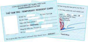Thủ tục xin cấp lại Thẻ tạm trú do thay đổi số hộ chiếu