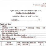 Mẫu NA7 – Đơn xin bảo lãnh cấp thẻ tạm trú cho người nước ngoài tại Việt Nam