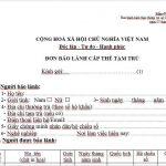 Hướng dẫn cách điền Mẫu NA3 – Đơn xin bảo lãnh cho thân nhân là người nước ngoài vào Việt Nam