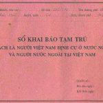 Thủ tục khai báo tạm trú cho người nước ngoài tại Việt Nam