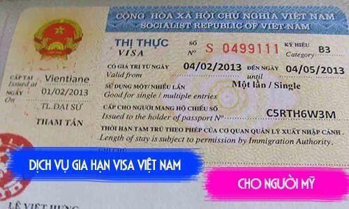 gia hạn visa cho người mỹ