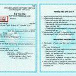Hồ sơ xin cấp thẻ tạm trú cho người Indonesia
