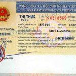 Xin Visa 1 tháng 1 lần cho người nước ngoài vào Việt Nam