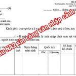 Lưu ý khi điền mẫu na2- Đơn xin nhập cảnh cho người nước ngoài vào Việt Nam