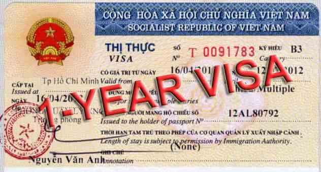 visa 1 năm 1 lần