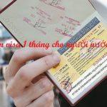 Gia hạn visa 1 tháng cho người nước ngoài