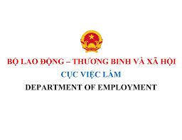 Cục việc làm cấp giấy phép lao động