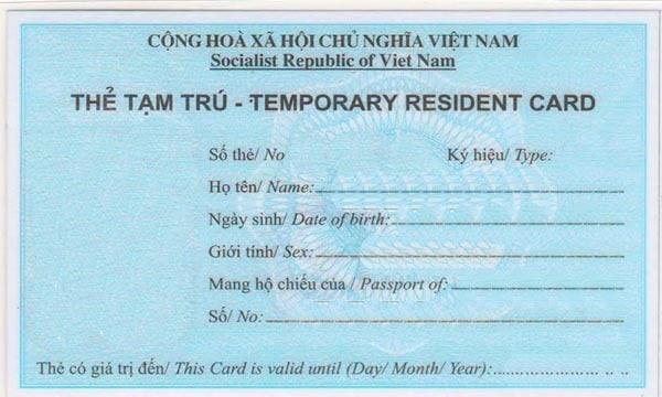 Các trường hợp được cấp thẻ tạm trú